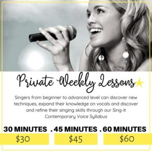 Private Weekly Lessons
