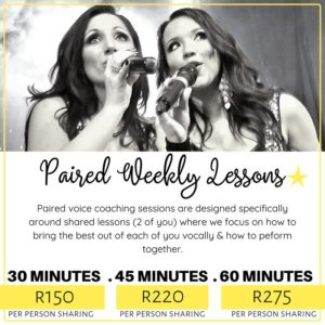 Paired Weekly Lessons SA